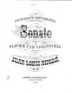 cp - Nicode J.L. - Sonata in G Op.25 (Augner)