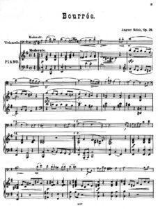 cp - Nolck A. - Bourree Op.29
