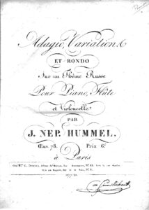 cp - Hummel J. - Adagio, Variations and Rondo on a Russian Theme Op.78