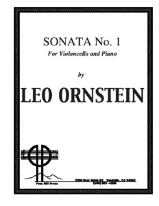 cp - Ornstein L. - Cello Sonata No.1 SO612