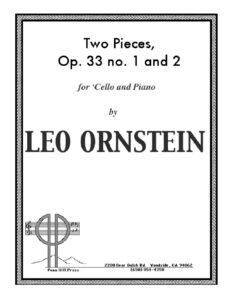 cp - Ornstein L. - Two Cello Pieces Op.33 SO620