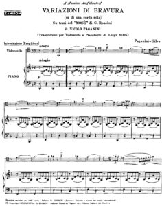 cp - Paganini N. - Variations on a Theme from 'Mose' (Silva)
