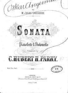 cp - Parry H. - Cello Sonata