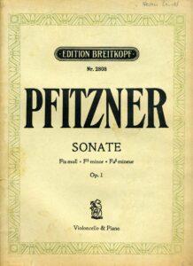 cp - Pfitzner H. - Cello Sonata in F-sharp minor Op.1