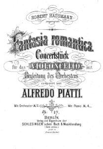 cp - Piatti A. - Fantasia Romantica