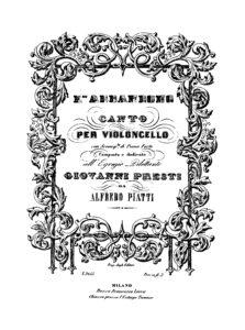 cp - Piatti A. - L'Abbandono Op.1