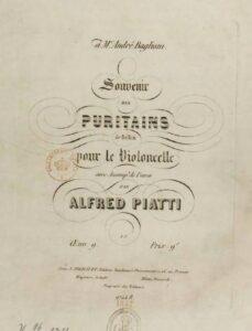 cp - Piatti A. - Souvenir des Puritains Op.9