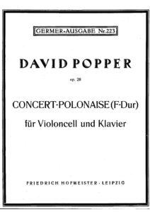 cp - Popper D. - Concert Polonaise in F Op.28