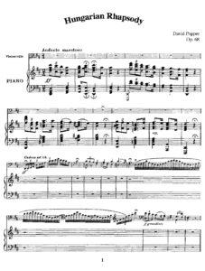 cp - Popper D. - Hungarian Rhapsody Op.68