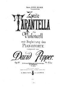 cp - Popper D. - Tarantella No.2 Op.57 in D