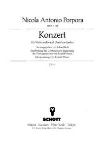 cp - Porpora N.A. - Cello Concerto in G (Schott)