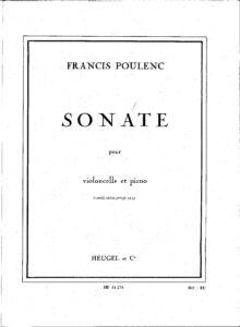 cp - Poulenc F. - Cello Sonata (Heugel)