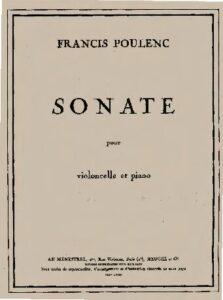 cp - Poulenc F. - Cello Sonata