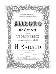 cp - Rabaud H. - Allegro de Concert Op.17