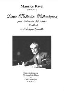 cp - Ravel M. - Deux Melodies Hebraiques (Mandozzi)