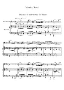 cp - Ravel M. - Menuet from Sonatina for Piano (Roques)