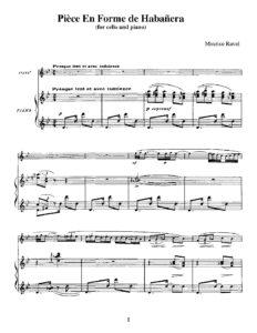 cp - Ravel M. - Piece en Forme de Habanera