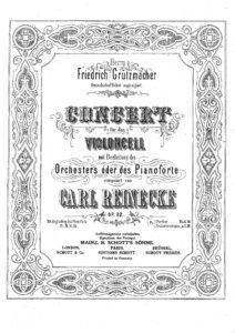 cp - Reinecke C. - Cello Concerto Op.82 in D minor