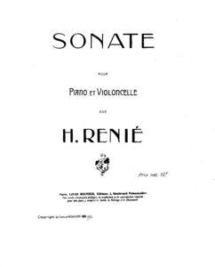 cp - Renie H. - Cello Sonata (1919)