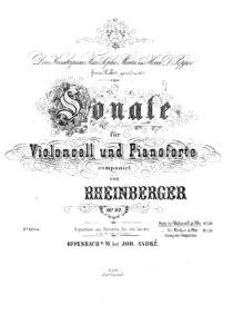 cp - Rheinberger J. - Sonata Op.92