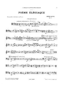 cp - Rhene-Baton - Poeme elegiaque Op.32