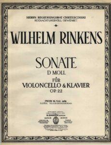 cp - Rinkens W. - Cello Sonate in D minor Op.22