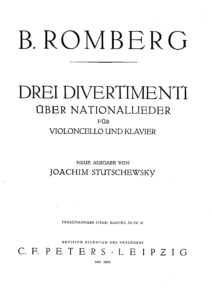 cp - Romberg B. - 3 Divertimentos on National Songs (Stutschewsky)