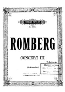 cp - Romberg B. - Cello Concerto No.3 Op.6 (Grutzmacher)