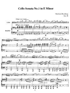 cp - Romberg B. - Cello Sonata Op.38 No.1 in E minor