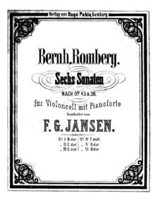 cp - Romberg B. - Cello Sonata Op.38 No.1 in G (Jansen)