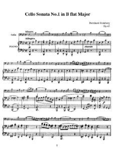 cp - Romberg B. - Cello Sonata Op.43 No.1 in B-flat