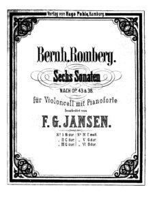 cp - Romberg B. - Cello Sonata Op.43 No.3 in G (Jansen)
