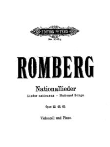 cp - Romberg B. - Divertimento on Westphalian National Themes Op.65 (Peters)