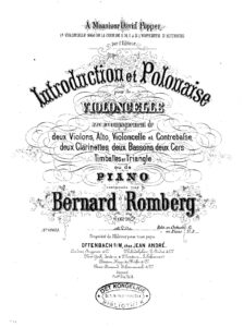 cp - Romberg B. - Introduction and Polonaise Op.76