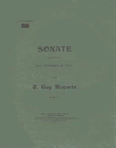 cp - Ropartz J.G.M. - Sonata No.1 in G minor