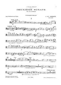 cp - Ropartz J.G.M. - Sonata No.2 in A minor
