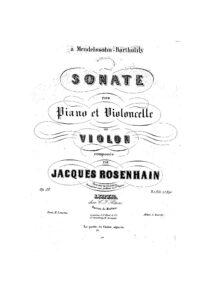 cp - Rosenhain J. - Sonata Op.38