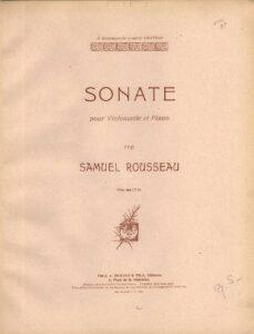cp - Rousseau S. - Cello Sonata
