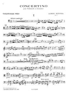 cp - Roussel A. - Cello Concertino,Op.57