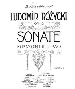 cp - Rozycki L. - Cello Sonata Op.10