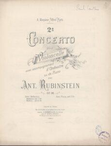 cp - Rubinstein A. - Cello Concerto No.2 Op.96