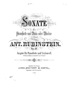 cp - Rubinstein A. - Sonata Op.49 (Krall)