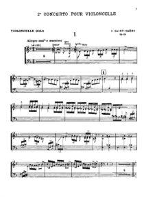 cp - Saint-Saens C. - Cello Concerto No.2 Op.119 (Durand)