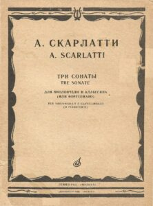 cp - Scarlatti A. - 3 Sonatas for Cello and Piano