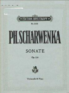 cp - Scharwenka P. - Sonata in G minor Op.116