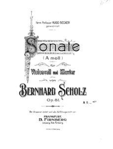 cp - Scholz B. - Cello Sonata in A minor Op.81