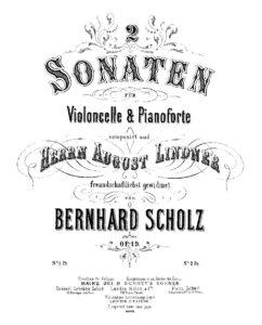 cp - Scholz B. - Cello Sonata in C Op.19 No.1