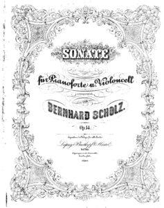 cp - Scholz B. - Cello Sonata in D minor Op.14