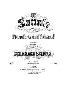 cp - Scholz B. - Cello Sonata in F minor Op.5