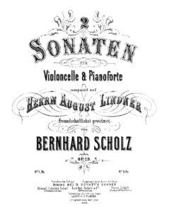 cp - Scholz B. - Cello Sonata in G Op.19 No.2